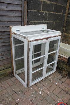 Mini greenhouse from windows