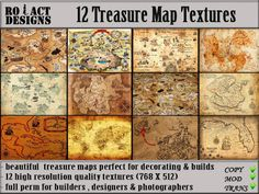 Ro!Act Designs 12 Treasure Map Textures