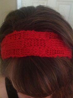 Dani earwarmer--My basket weave #headband #knitting pattern at http://knitsbybritt.blogspot.com/2012/07/knitted-basket-weave-headband.html