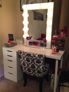 makeup table with storage - Google Search