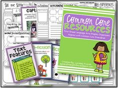 First Grade Common Core Graphic Organizers and Posters for every Language Arts Standard...perfect for a new teacher or a teacher who is new to the Common Core