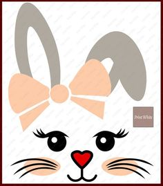 Discover recipes, home ideas, style inspiration and other ideas to try. Easter Crafts, Holiday Crafts, Reindeer Face, Bunny Face, Silhouette Cameo Projects, Cricut Creations, Easy Drawings, Face Cut, Cute Art