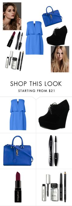 """""""Untitled #139"""" by softic-23 ❤ liked on Polyvore featuring Beauty Secrets, KAROLINA, BCBGMAXAZRIA, Forever Link, Yves Saint Laurent, Lancôme, Smashbox, Bobbi Brown Cosmetics, women's clothing and women"""