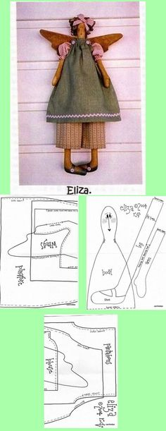 1 of 1 Fabric Doll Pattern, Doll Sewing Patterns, Doll Clothes Patterns, Fabric Dolls, Doll Toys, Baby Dolls, Wood Furniture Living Room, African Dolls, Angel Crafts