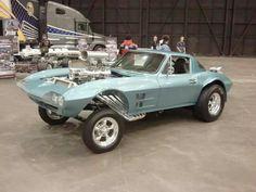 Blown Corvette gasser - Cleveland Autorama