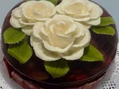 ▶ Gelatina Artistica: Margarita con cuchillo / Daisy with knife cuts - YouTube