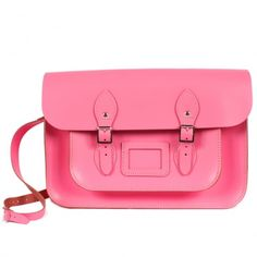 Love this pink satchel
