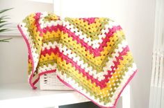 Baby blanket Crocheted in a Granny square design in by Aalexi