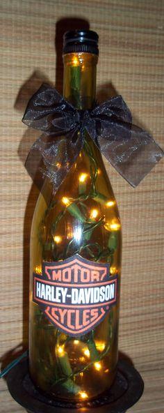 Custom:  Harley Davidson lighted bottle