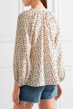 Vanessa Bruno - Floral-print Silk Crepe De Chine Blouse - Off-white - FR34