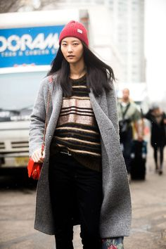 Layering: Winter Street Style Fashion.