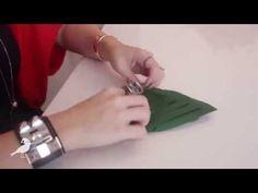 We Share Ideas   DIY: Guardanapo Árvore de Natal