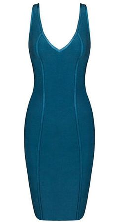 elegant, sexy,body-con fit, strap dress ,length above knee, back zipper, deep v to the front, low back cut, peacock blue Material- 90% rayon /9% nylon/ 1% spandex Color - Blue Size - X-Small, Small, M