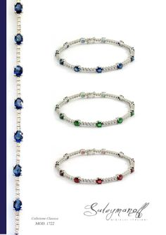 Handpicked sapphires, rubies, emeralds and diamonds, brought together to accent their individual color, sparkle and clarity