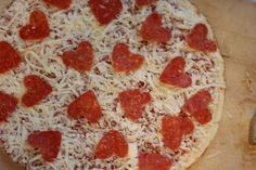 Heart Pizza.