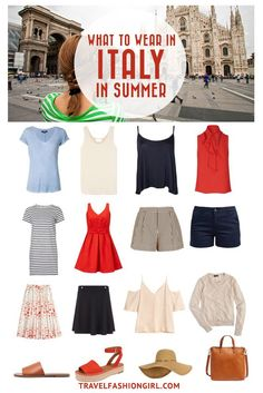 Traveling to Italy in the Summer? Use this comprehensive packing guide to help you pack stylishly light for destinations like Milan, Rome, and Venice. | http://travelfashiongirl.com