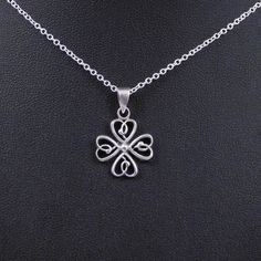Great gift for your best friend!!! A sterling silver 4-leaf clover pendant!  The clover is made of four hearts.  A friend is like a 4-leaf clover...hard to find & lucky to have.