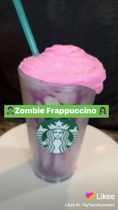 Starbucks Halloween Drinks, Starbucks Drinks, Starbucks Coffee, Starbucks Unicorn Frappuccino Recipe, Starbucks Recipes, Rainbow Drinks, Rainbow Smoothies, Condensed Milk Recipes, Candy Drinks