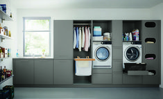 Who says utility rooms have to be boring. When attention to detail is your thing call taylorscot always thinking outside the box!… Like the built in storage for galley style laundry room with window Utility Room Storage, Laundry Room Organization, Storage Room, Built In Storage, Storage Shelves, Utility Room Ideas, Utility Sink, Basement Laundry, Laundry Rooms