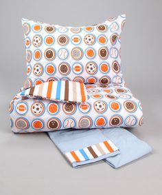 Would like to find twin size bedding similar to this one - Mod Sports Toddler Bedding Set by Bacati on #zulily