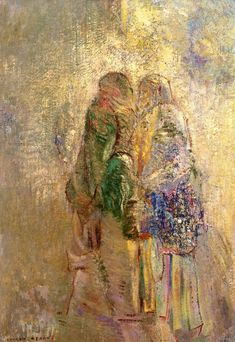 'The Visitation' (also known as The Welcome) - Odilon Redon - (circa 1905-1910)