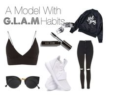 """G.L.A.M"" by marijanes2 ❤ liked on Polyvore featuring RetroSuperFuture, Topshop, adidas and Bobbi Brown Cosmetics"