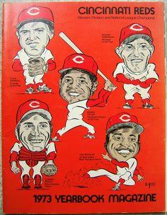Vintage CINCINNATI REDS MLB 1973 YEARBOOK Magazine ROSE MORGAN BENCH ANDERSON  http://www.bonanza.com/listings/86770123