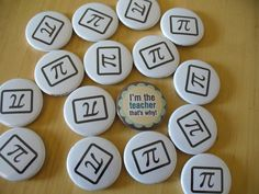 A set of Pi badges heading out to a maths teach. New term underway.