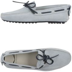 Voile Blanche Moccasins ($50) ❤ liked on Polyvore featuring men's fashion, men's shoes, men's loafers, light grey, mens deck shoes, mens boat shoes, mens square toe shoes, mens flat shoes and mens leather shoes
