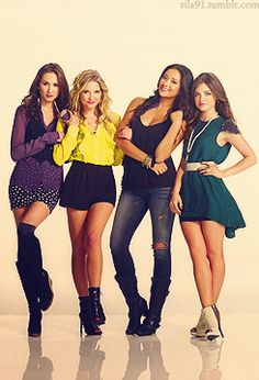 Troian Bellisario, Ashley Benson, Shay Mitchell and Lucy Hale.