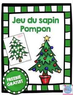 Freebie! Jeu du Sapin Pompon French Christmas Songs, Christmas Love, Winter Christmas, Christmas Paper Crafts, Preschool Christmas, Christmas Activities, Christmas Themes, Theme Noel, In Kindergarten