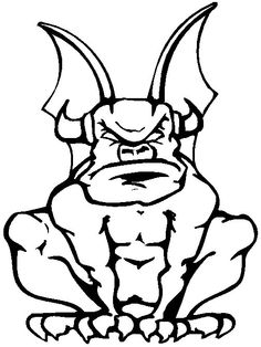 Gargoyle Coloring Page coloring book page - print and color picture