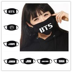 BTS BIGBANG Mouth Mask Kpop Jin JungKook V SUGA J-Hope Jimin Bangtan Boys KPOP This is the mask i'm going to ne getting it's the other bts one not the one on her face.~ Levi