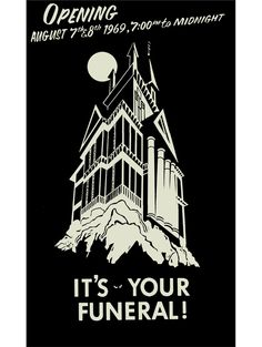 Original Haunted Mansion pre-opening employee preview poster.
