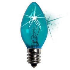 C7 Twinkle Transparent Bulbs