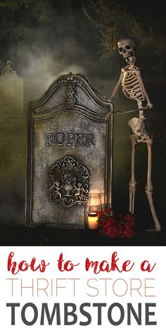 Low Cost Insurance Plan For The Welfare Of Your Loved Ones Learn How To Make The Most Realistic Tombstone Prop From A Vintage Mirror Make Your Halloween Extra Spooky Creepy Halloween Decorations, Halloween Tombstones, Cute Halloween Costumes, Halloween Home Decor, Halloween Crafts, Spooky Halloween, Halloween Ideas, Halloween 2019, Halloween Stuff