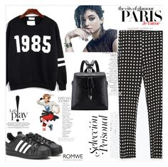 """Cool Tomboy"" by romwe ❤ liked on Polyvore featuring Zara, H&M, By Terry, adidas and Chanel"