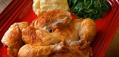 Chicken with Rustic Sauce  Yum! This looks like a good basic roasted chicken.