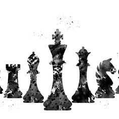 'Chess' by erzebetth Buda Wallpaper, Equality Tattoos, Chess Tattoo, Drawing Rocks, The Scarlet Pimpernel, Baroque Design, Unusual Art, Chess Pieces, Rock Crafts