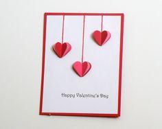 Handmade Valentine Card - Hearts - Etsy.