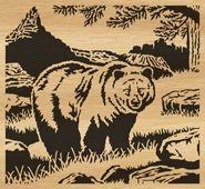 scroll saw pattern 077-bear by Alex Fox