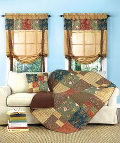 These Rachel Patchwork Home Accents will add a warm country touch to your home. Each cotton/poly blend piece features wonderful floral patterns and deep, rich
