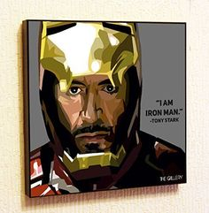 Tony Stark Iron Man 2 Marvel DC comics Super Hero Motivational Quotes Wall Decals Pop Art Gifts Portrait Framed Famous Paintings on Acrylic Canvas Poster Prints Artwork Geek Decor Wood -- Continue to the product at the image link.