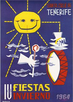 Cartel Carnaval Santa Cruz de Tenerife Año 1964