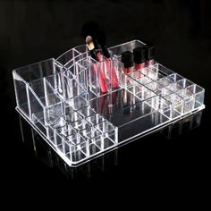 Cosmetics Organizer Women Ladies Practical  Makeup Cosmetic Clear Display Collection Storage Box