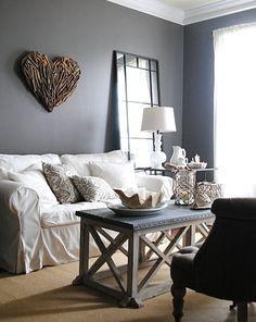 Gray Color for Wall in Living Room