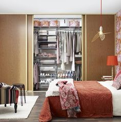 Storage solutions and made-to-measure sliding doors Wardrobe Shelving, Wardrobe Organisation, Dressing Leroy Merlin, Shelving Solutions, Shelving Ideas, Classic Interior, Organizing Your Home, Bedroom Storage, Design Consultant