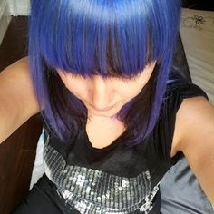 This blue hair colour is amazing