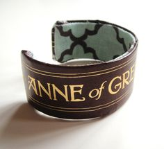 Anne of Green Gables bracelet made from a book spine