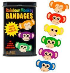 Rainbow Monkey Bandages - Girlzlyfe.Com